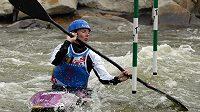 Štěpánka Hilgertová na mistrovství světa ve vodním slalomu v Deep Creek Lake.