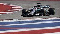 Lewis Hamilton během Velké ceny USA.