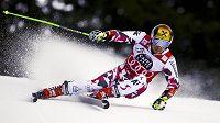 Rakouský lyžař Marcel Hirscher během obřího slalomu SP v Alta Badii.