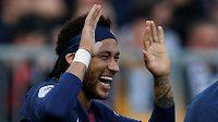 Neymar z PSG při utkání s Angers.