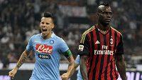 Mario Balotelli po neúspěšné exekuci penalty při utkání s Neapolí.