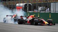 Monoposty Red Bullu poté, co do sebe během Velké ceny Ázerbájdžánu narazily.