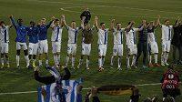 Fotbalisté Liberce se radují z postupu do jarní části Evropské ligy.