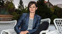 Rychlobruslařka Martina Sáblíková na křtu knihy fotografa Ondřeje Pýchy, dne 25. října 2016 v Praze.