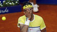 Rafael Nadal během zápasu.