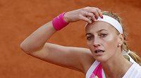 Petra Kvitová v semifinále French Open.