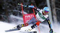 Ted Ligety na trati obřího slalomu ve Schladmingu.