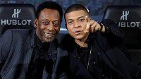 Fotbalový král Pelé se sešel s talentovaným francouzským reprezentantem Kylianem Mbappém.