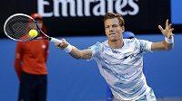 Český tenista Tomáš Berdych v semifinále Australian Open proti Andymu Murraymu.
