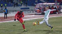 Fotbalisté Krasnojarsku a Grozného čelili velkému mrazu.