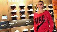 Oštěpařka Bára Špotáková během otevření nového obchodu Nike v nákupním centru Chodov.