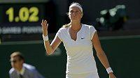 Zklamaná Petra Kvitová. Třetí titul ve Wimbledonu letos nevybojuje.