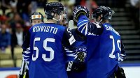 Finové se radují po jedné z branek proti korejskému týmu.