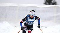 Česká běžkyně na lyžích Kateřina Razýmová během skiatlonu na mistrovství světa v klasickém lyžování v Oberstdorfu.