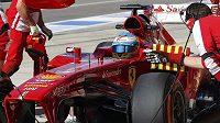 Španěl Fernando Alonso při tréninku na Velkou cenu USA formule 1.