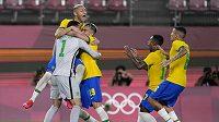 Fotbalisté Brazílie se stali prvními finalisty olympijského turnaje.