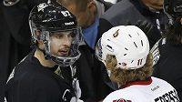 Sidney Crosby ještě se speciálním krytem čelisti.