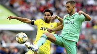 Záložník Realu Madrid Eden Hazard během letní přípravy