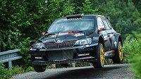 Jan Kopecký se spolujezdcem Pavlem Dreslerem na Rallye Bohemia.