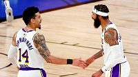 Danny Green (14) a Markieff Morris (88) z Los Angeles Lakers.