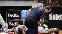 Andy Murray byl na turnaji v Římě několikrát ošetřován.