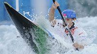 Kajakářka Štěpánka Hilgertová na olympijském kanálu v Lee Valley