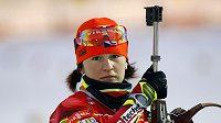 Biatlonistka Veronika Vítková, české želízko v ohni.