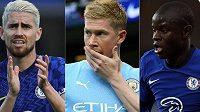 Na cenu pro nejlepšího fotbalistu sezony podle UEFA kandidují Kevin De Bruyne, Jorginho a N'Golo Kanté