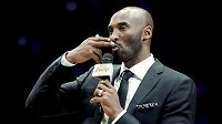 Kobe Bryant během ceremoniálu.