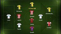 Maximální zastoupení má v našem výběru Borussia a Tottenahm.