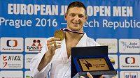 Český reprezentant Lukáš Krpálek vybojoval zlatou medaili ve váhové kategorii do 100 kg při European Open v Praze.