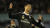 Cristiano Ronaldo z Realu Madrid při utkání ve Vigu.