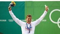 Kanoista Lukáš Rohan slaví stříbrnou medaili na olympijských hrách v Tokiu