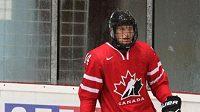 Hokejista Adam Musil v dresu Kanady.