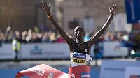 Vítěz 18. ročníku pražského půlmaratonu Daniel Wanjiru z Keni.