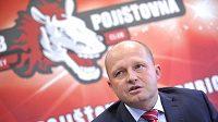 Generální manažer hokejového klubu ČSOB Pojišťovna Pardubice Ondřej Šebek na tiskové konferenci k zahájení nové extraligové sezóny.