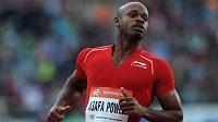 Sprinter Asafa Powell v závodu na 100 m při Zlaté tretře 2013 v Ostravě.