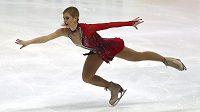 Eliška Březinová při krátkém programu ve Štýrském Hradci.