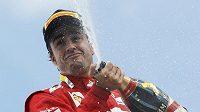 Radost Fernanda Alonsa z vítězství v GP Německa