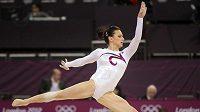 Česká gymnastka Kristýna Pálešová v kvalifikaci.