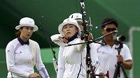 Korejka Čang Hje-čin během finále.