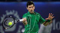 Novak Djokovič na turnaji v Dubaji.