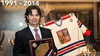 Bývalý útočník Robert Lang byl ve čtvrtek v Praze uveden do Síně slávy českého hokeje.