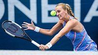 Petra Kvitová v zápase proti Karolíně Muchové ve finále tenisového turnaje O pohár prezidenta ČTS.