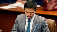 Filipínský boxerský hrdina Manny Pacquiao oznámil kandidaturu na prezidenta