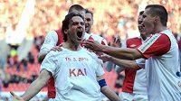 Kapitán Karol Kisel věří, že jeho Slavia se zase bude moci radovat třeba už v derby...