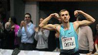 Vítěz Hustopečského skákání Alexej Dmitrik z Ruska.