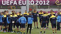 Švédští fotbalisté se připravují na EURO.