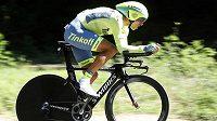 Roman Kreuziger při časovce na Tour de France.