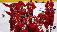 Ruská zlatá radost. Sborná vyhrála finále olympijského hokejového turnaje.